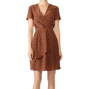 Slate & Willow • Leopard Print Silk Wrap Dress